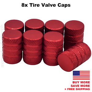 8x Universal Tire Valve Stem Caps For Car Truck Standard Fitting Red