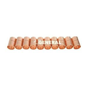 Copper Coupling 3 4 Id For Air Conditioning Refrigeration Lines 10 Pcs