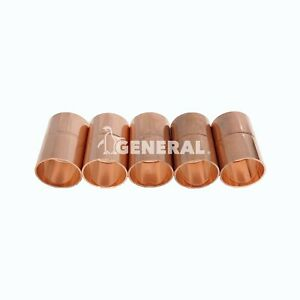 Copper Coupling 1 1 8 Id For Air Conditioning Refrigeration Lines 5 Pcs