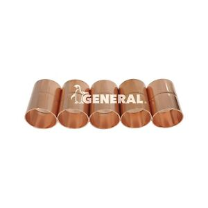 Copper Coupling 1 3 8 Id For Air Conditioning Refrigeration Lines 5 Pcs