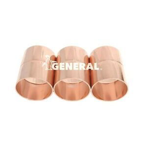 Copper Coupling 1 5 8 Id For Air Conditioning Refrigeration Lines 3 Pcs