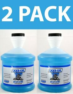 2 Pack Liqui Gel Tire Slick Bead Lube 1 Gallon Bottles New Free Shipping Usa
