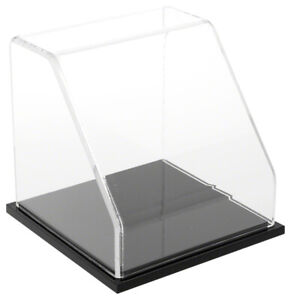 Plymor Clear Acrylic Slanted Front Display Case With Black Base 6 X 6 X 6