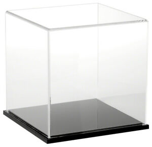 Plymor Clear Acrylic Display Case With Black Base 8 X 8 X 8
