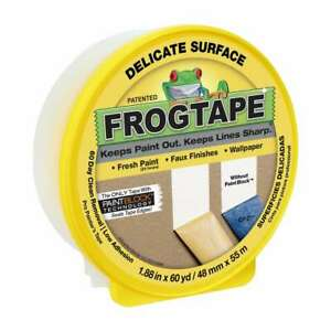 Frogtape Delicate Surface Painters Tape 2 In X 60 Yds yellow