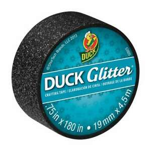 Duck Brand Glitter Crafting Tape 3 4 In X 15 Ft black Sparkle