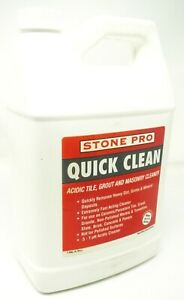 Stone Pro Quick Clean Acidic Tile Grout Masonry Cleaner Concentrate 1 Gallon