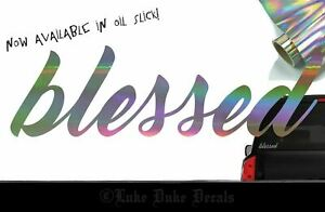 Blessed Decal Sticker Jdm Euro Drift Tuner Import Stance Race Car Accent