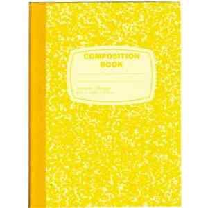 Yellow Composition Notebook 100 Sheets