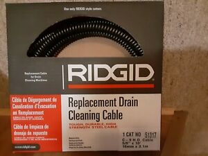 Ridgid 51317 C 9 H d Drain Cleaning Cable 5 8 X 10