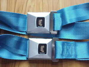 Gm Nos Deluxe Seat Belts Bright Blue Chevy Chevelle Camaro Corvair Spt cpe Conv