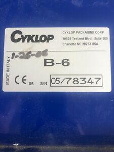 Cyklop B 6 Gummed Tape Dispenser Manual Water Activated Used