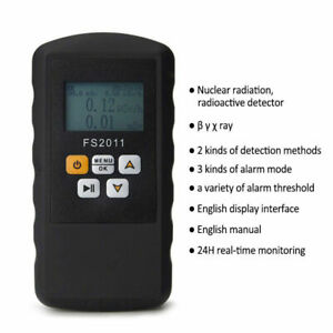 Nuclear Radiation Detector Tube Dosimeter Monitor Beta Gamma Xray Geiger Counter