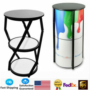41 7 Round Portable Aluminum Spiral Tower Display Case For Exhibition Events Us