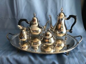 Tiffany Sterling Tea Set With Tray Coffee Pot Teapot Sugar Creamer