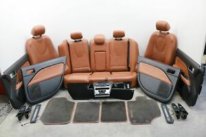 2010 2012 Ford Fusion Front Rear Left Right Seat Door Panel Floor Leather Set