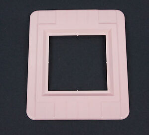 Vtg Pink Switch Outlet Cover Decorative Wall Protector Shield Plate Double Gang