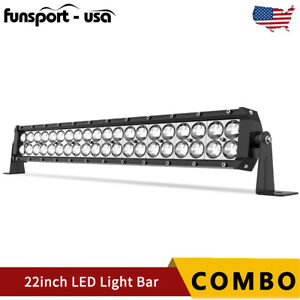 22inch 120w Led Work Light Bar Combo Spot Flood Driving Offroad Fit Jeep Suv 4wd