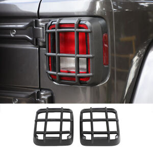 Tail Light Guards Rear Lamp Covers Hood Protector For Jeep Wrangler Jl 18 Abs