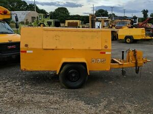 375 Cfm Air Compressor Cummins 4bt Turbo Diesel Towable Portable Work Ready