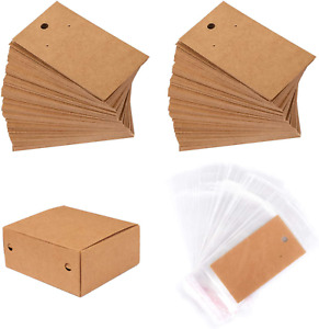 Whaline 200 Set Earring Display Card With 200 Pcs Self seal Bags Earring Card H