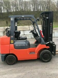 2010 Toyota 7fgcu35 8000 Forklift Lp Gas Side Shift 339 Low Original Hours
