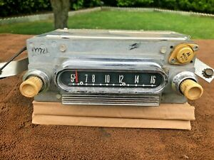 Antique Car Truck Radio Ford Model 002721 Chrome Is Good Original Knobs