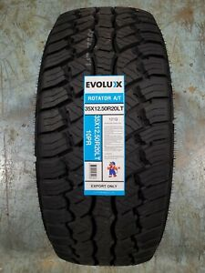 35x12 50r20lt Evoluxx Rotator A T 121q 10ply Load E Owl Set Of 4
