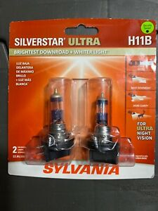 Sylvania Silverstar Ultra H11b Halogen Bulbs Dual Pack Of 2 New Sealed L K