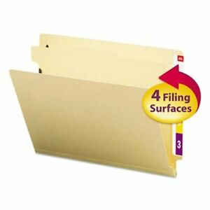 Smead Manila End Tab Classification Folders Letter 4 section 10 bx smd26825