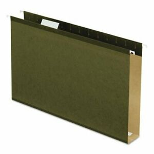 Pendaflex 2 Capacity Hanging File Folders Green 25 Per Box pfx4153x2