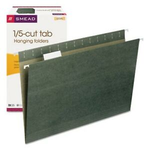 Smead Hanging File Folders 1 5 Tab 11 Point Legal Green 25 box smd64155