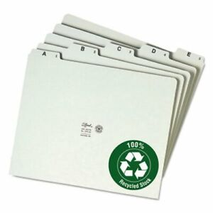 Smead Recycled Top Tab File Guides Alpha 1 5 Tab Letter 25 Guides smd50376