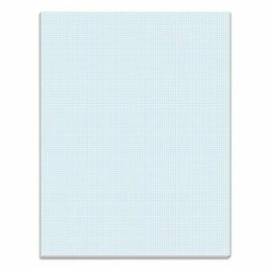 Tops Quadrille Pads 10 Squares inch 8 1 2 X 11 White 50 Sheets top33101