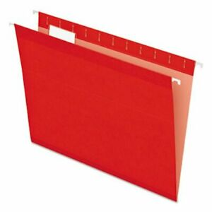 Pendaflex Reinforced Hanging File Folders Letter Red 25 box pfx415215red