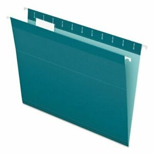 Pendaflex Reinforced Hanging File Folders Letter Teal 25 box pfx415215tea