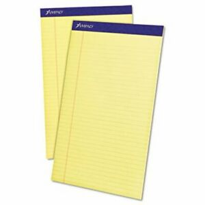 Ampad Evidence Perf Top Legal Canary 12 50 sheet Pads Per Pack top20230
