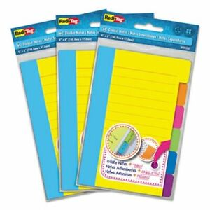 Divider Sticky Notes With Tabs Assorted Colors 3 Sets rtg10245