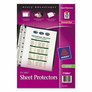 Avery Top Load Sheet Protector Heavyweight 8 5 X 5 5 Clear 25 pk ave77004