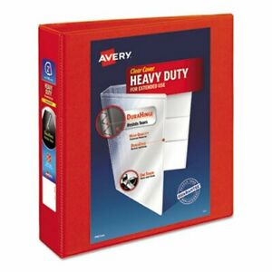 Avery Heavy duty Binder With One Touch Ezd Rings 2 Capacity Red ave79225