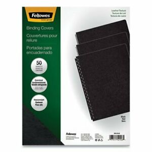 Fellowes Executive Presentation Binding System Covers Black 50 pack fel52146