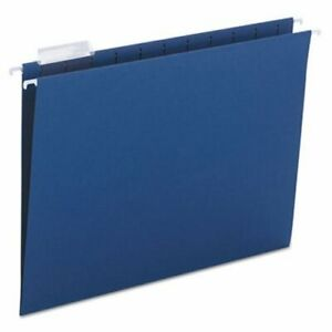 Smead Hanging File Folders 1 5 Tab 11 Point Letter Navy 25 box smd64057