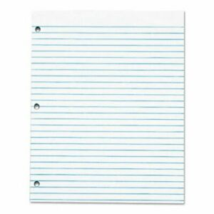 Tops Three hole Punched Pad Wide Rule 8 1 2 X 11 White Dozen top7526