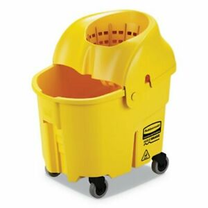 Rubbermaid Wavebrake 35 Qt Bucket wringer Yellow Each rcpfg759088yel