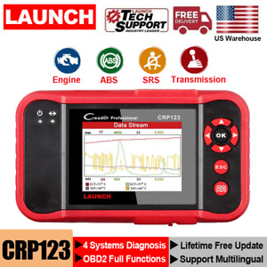 Launch X431 Crp123 Obd2 Scanner Abs Srs Engine Transmission Car Diagnostic Tool