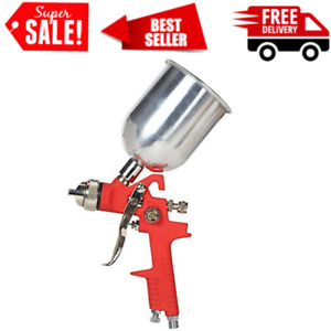 1 4mm Hvlp Ravity Feed Air Spray Gun Kit Auto Car Detail Touch Up Paint Sprayer