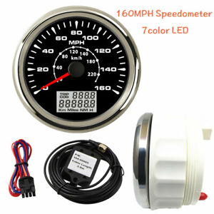 85mm 3 3 8 Gps Speedometer Odometer 160mph 220km H 7 Colors Led For Car Boat
