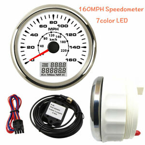 85mm Gps Speedometer Odometer 160mph 220kph For Car Boat 7 Colors Led Usa Stock