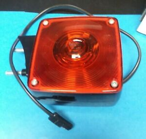 Nos Vintage Signal stat 4853 Lh Dual Amber Red Face Turn Stop Signal 4853