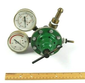 Smith Welding Regulator Air Gas Valve Gauge Oxygen Brass Original Owner